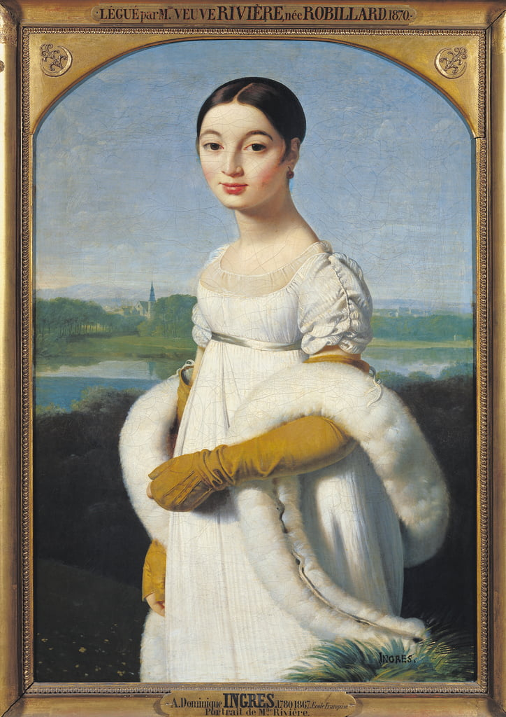 Portrait of Mademoiselle Caroline Riviere (1793-1803) 1805  by Jean Auguste Dominique Ingres