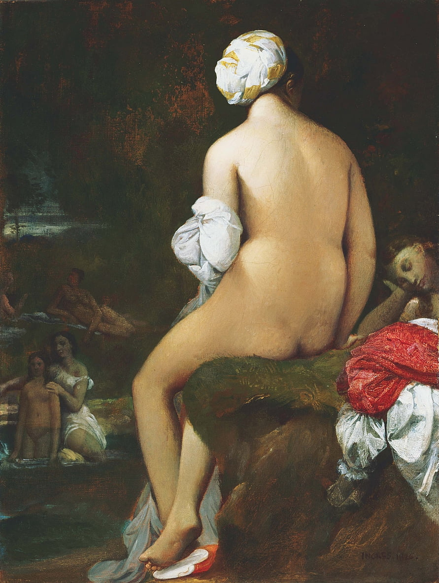 Der Kleine Bather von Jean Auguste Dominique Ingres