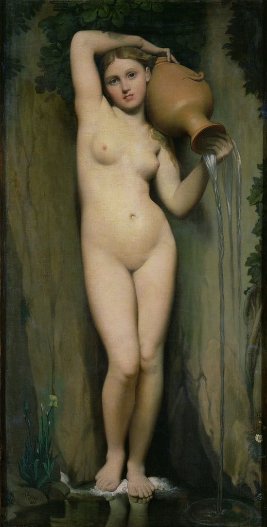 The Source, 1856  by Jean Auguste Dominique Ingres