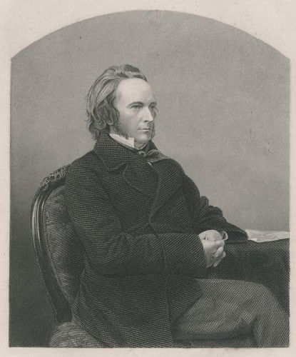 George John Douglas Campbell, 8. Herzog von Argyll, eingraviert von DJ Pound aus einem Foto, aus The Drawing Room of Eminent Personages, Volume 2, erschienen in London, 1860 von John Jabez Edwin Paisley Mayall