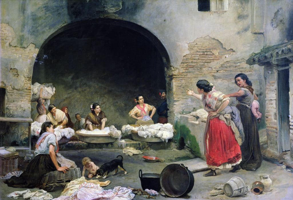 Washerwomen Disputing, 1871 von Jose Jimenes Aranda