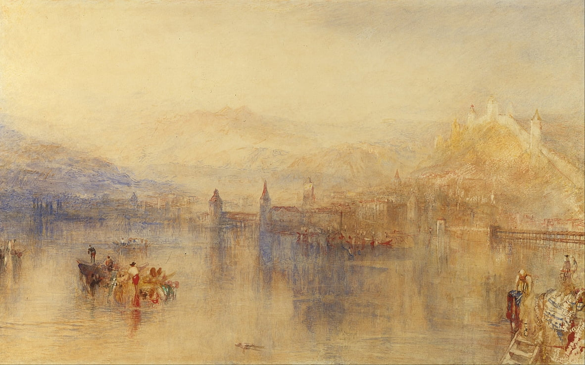 Luzern vom See von Joseph Mallord William Turner