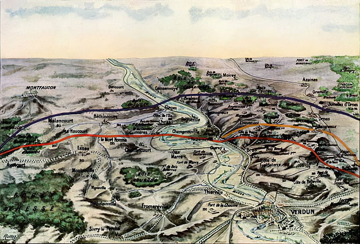Foto Einer Franzosischen Karte Mit Den Schlachtfeldern 283866