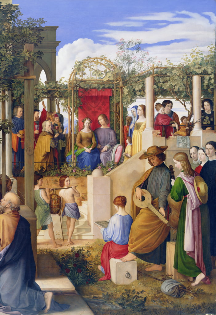 Die Hochzeit In Kana 1819 Detail Von 149006 Von Julius Schnorr