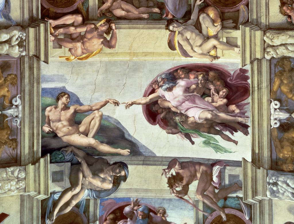 Decke Der Sixtinischen Kapelle Die Erschaffung Adams 1510