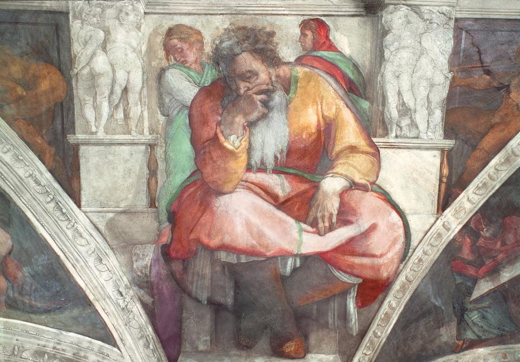 Sixtinische Kapelle Decke Der Prophet Jeremia Vorreso 84503