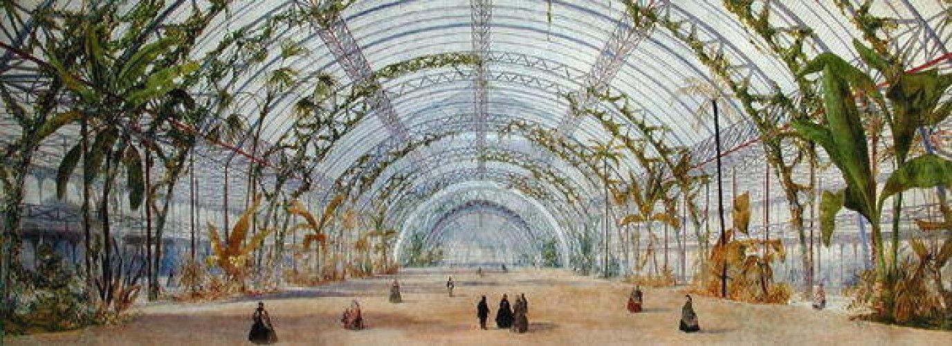 Innenarchitektur für einen Kristallpalast im Parc de Saint-Cloud, um ...