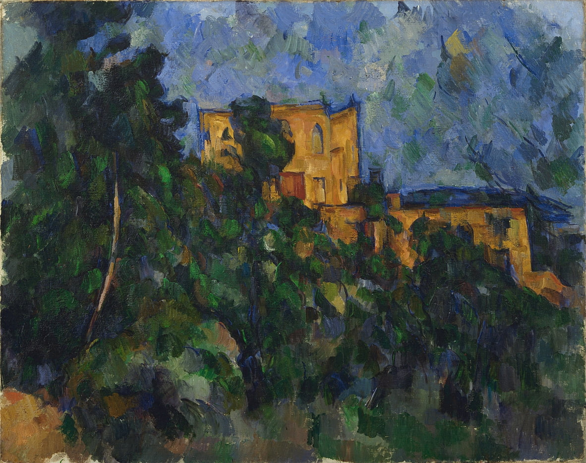 Black Castle von Paul Cézanne