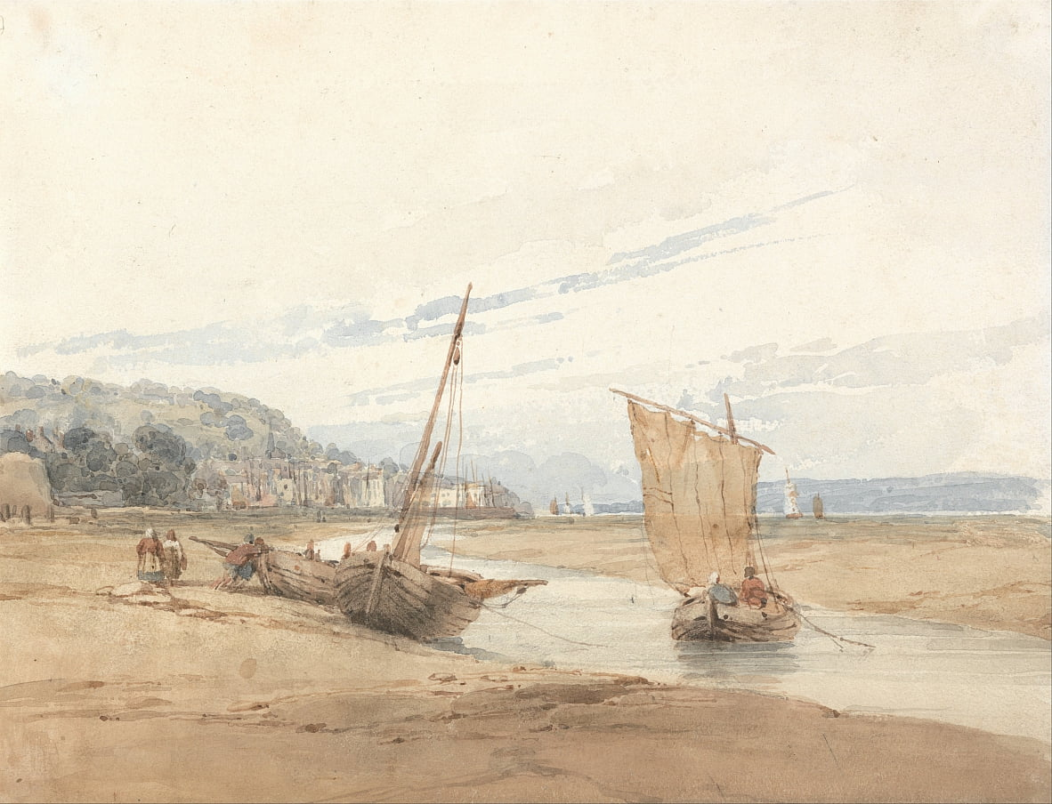 Near Honfleur by Richard Parkes Bonington