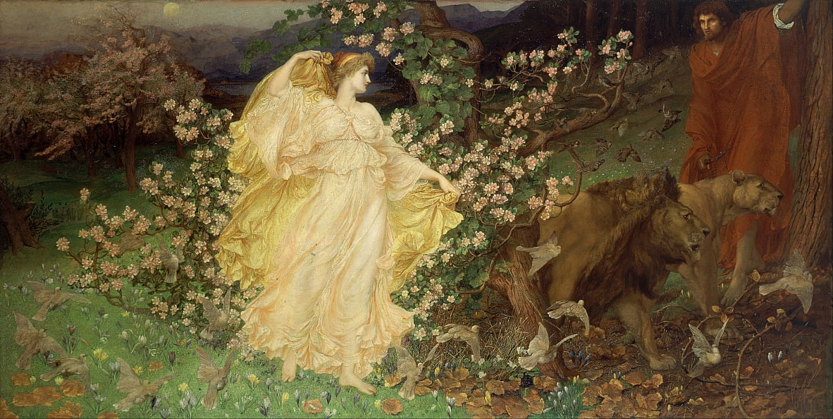 Venus und Anchises von William Blake Richmond