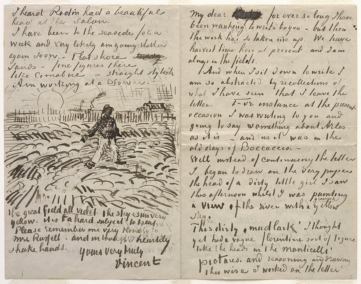 Brief an John Peter Russell von Vincent van Gogh
