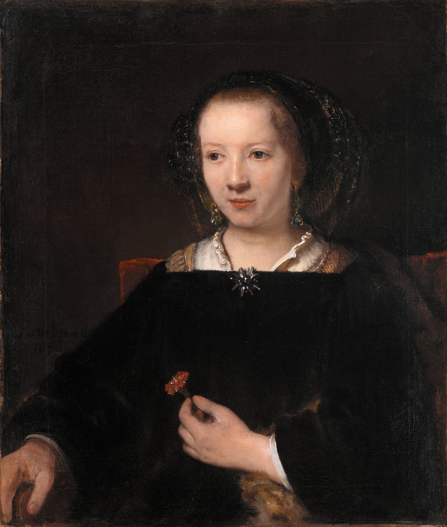 Young Woman with a Carnation by Willem Drost