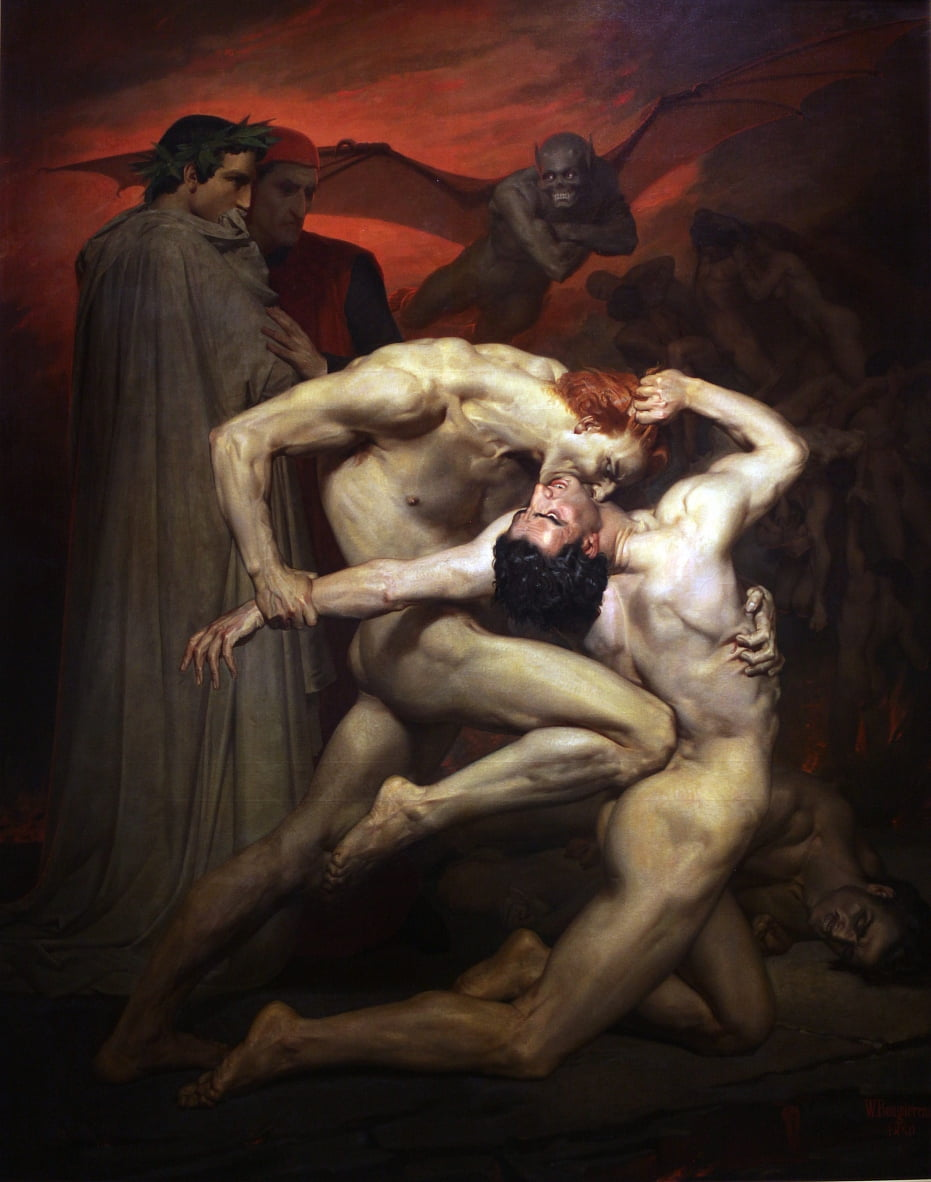 Dante und Virgil von William Adolphe Bouguereau