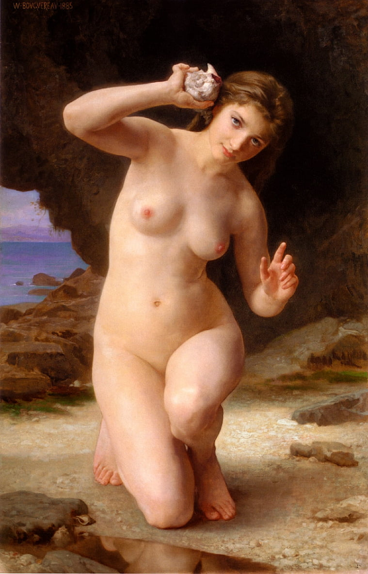 Frau mit Shell von William Adolphe Bouguereau