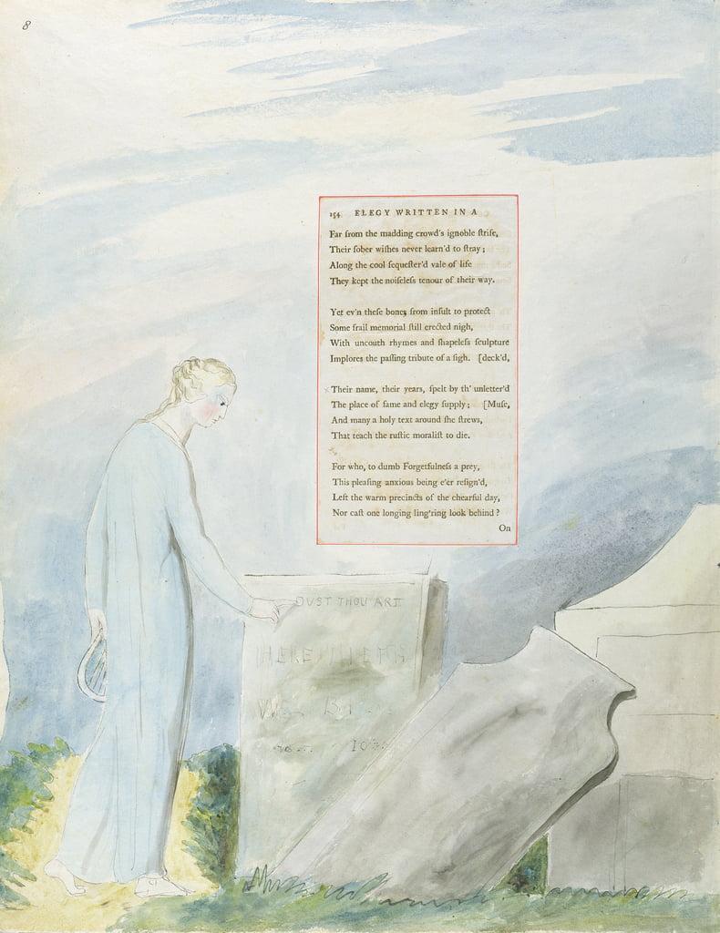 Elegy In Einem Landkirche Hof Entwurf 112 Aus Die Gedichte Von Thomas Grey 1797 98 Wc Mit Feder Und Tusche Auf Papier