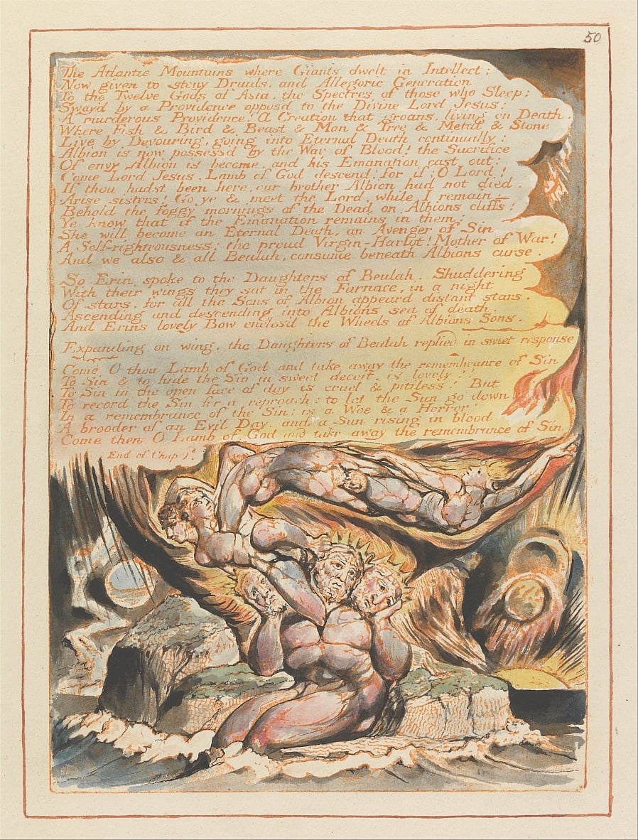 Jerusalem, Platte 50, von William Blake