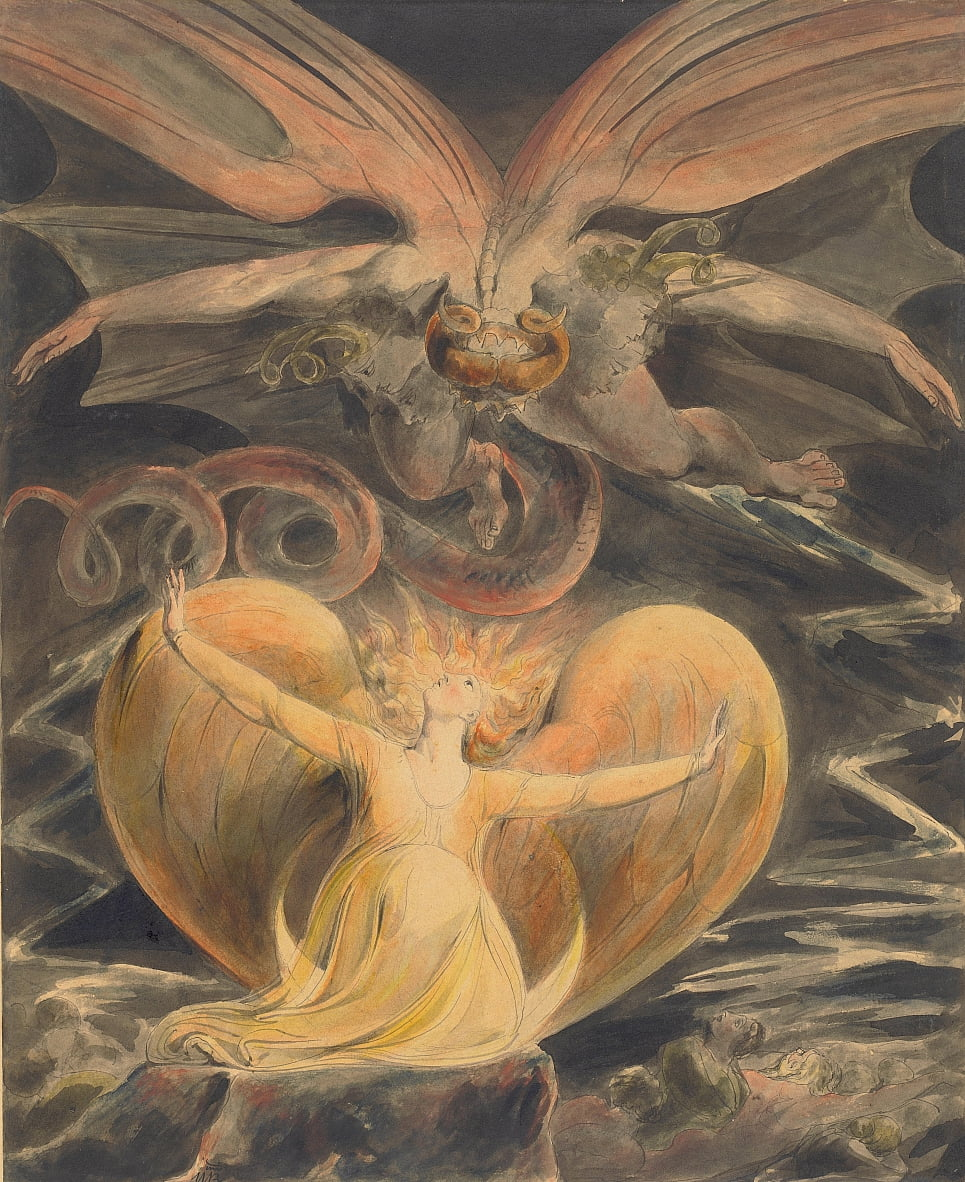 The Great Red Dragon and the Woman Clothed with the Sun by William Blake