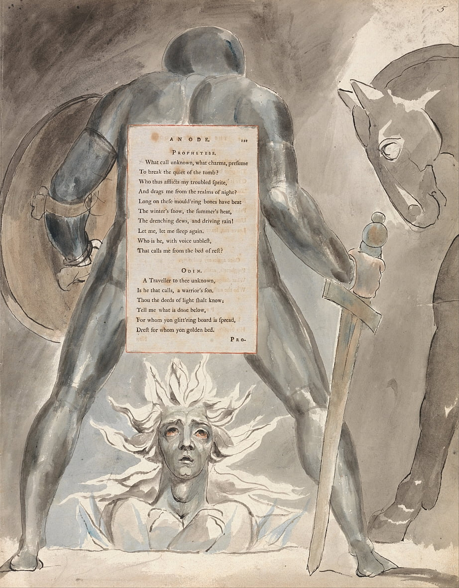 The Poems of Thomas Gray, Design 81,  by William Blake