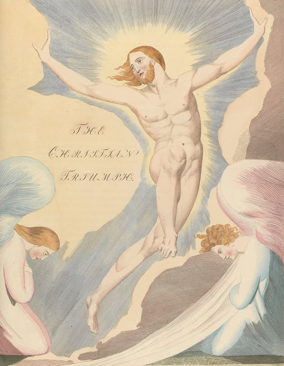 Youngs Night Thoughts, Seite 65, Night the Fourth, Der christliche Triumph. von William Blake