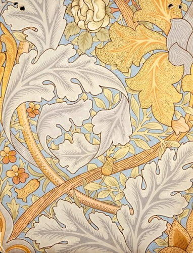 St. James Wallpaper Design, 1881 (Farbholzschnitt auf Papier) von William Morris