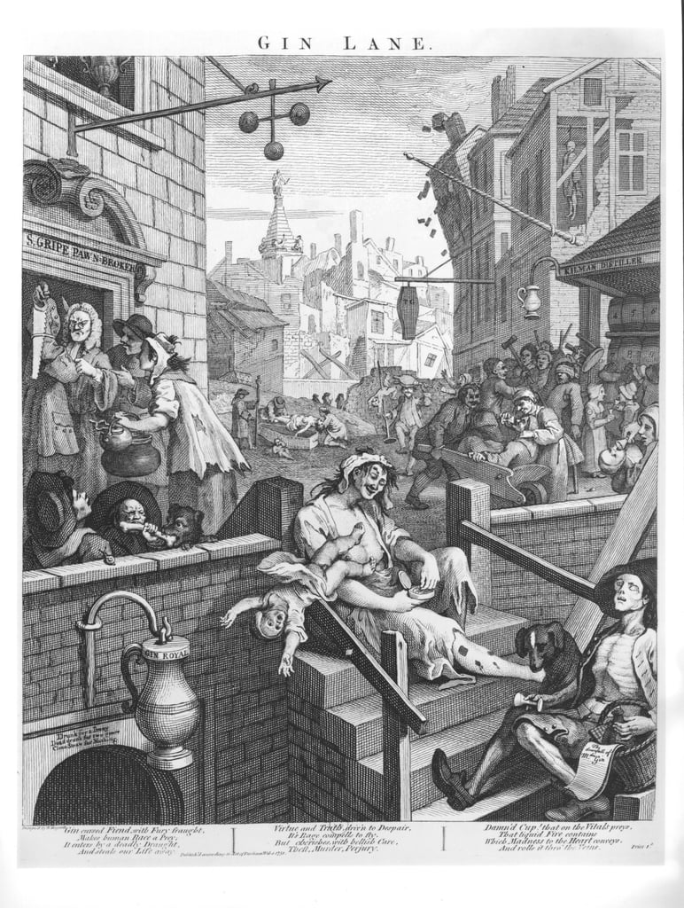 Gin-Weg, 1751 von William Hogarth