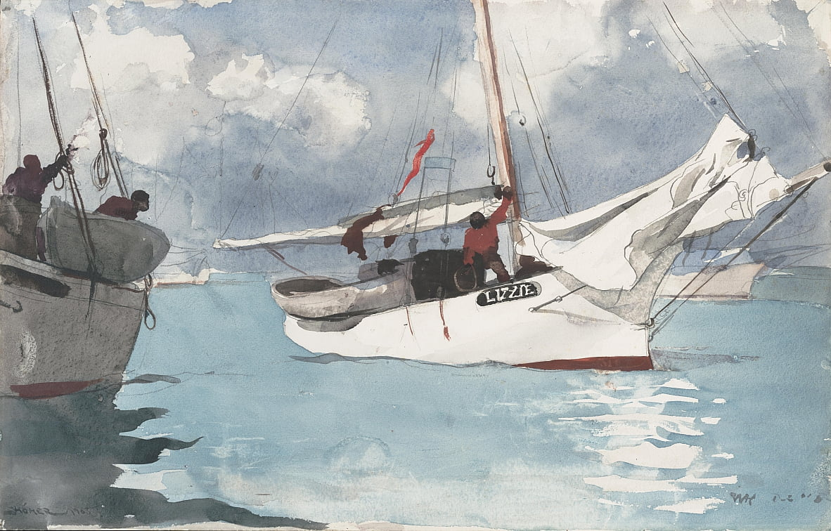 Fishing Boats, Key West by Winslow Homer